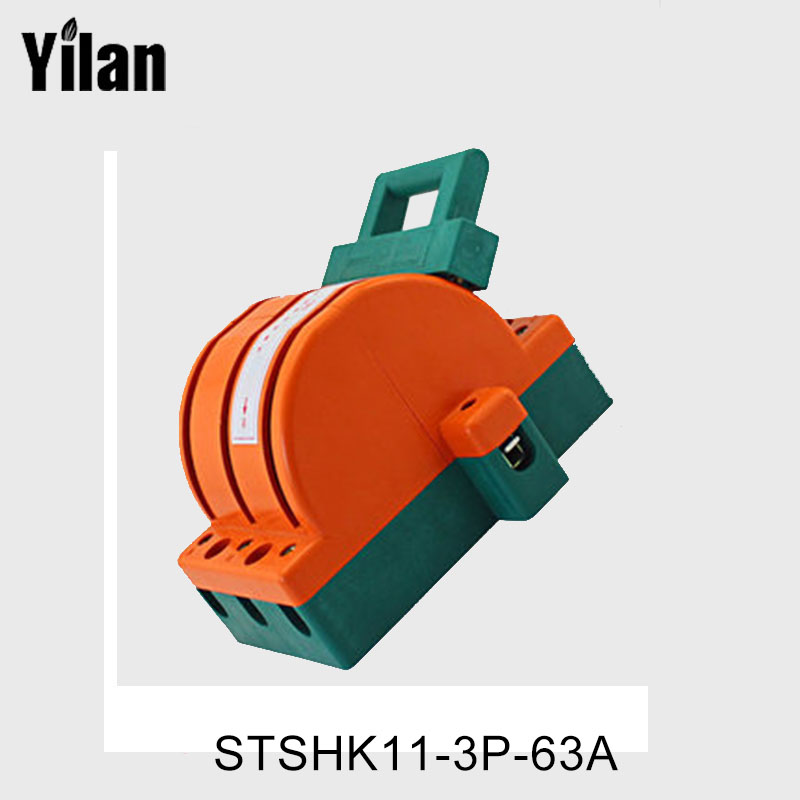 цена на yilan 3P 63A dual power switch switch double throw three-phase switch bi-directional