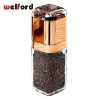 Manually Glass Ceramic Pepper Mill Grinder Spice Salt Mill With Box Chopper Of Garlic Slap Chop Pug Matcha Tea