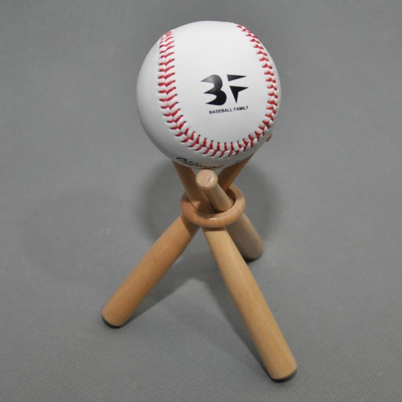 Mini Solid Wood Baseball Display Bracket Bat Modeling Softball Baseball Display Base Display Circle