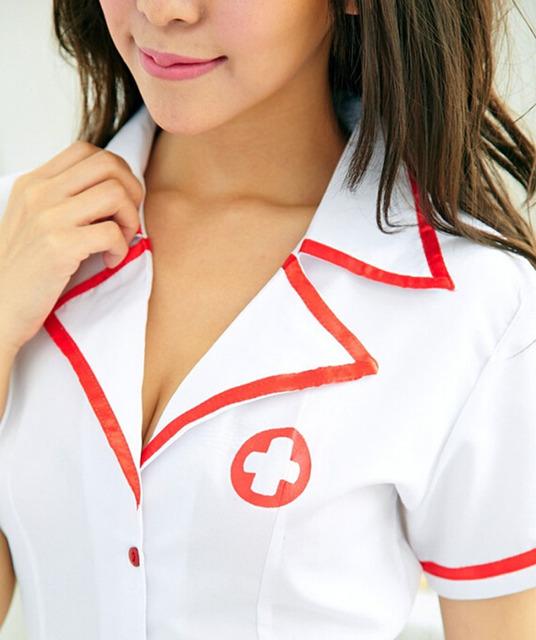 2017 Sexy Nurse Costume Set Fantasias sexy erotic Cosplay Costume Nurse Uniform Tempt V-Neck Dress bucaneras mujer AAQQE082