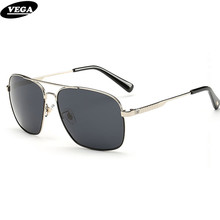 VEGA Best Men Sunglasses Polarized High Quality Cool Square Eyewear For Driving  Flat Top Hipster Glasses UV 400 8069