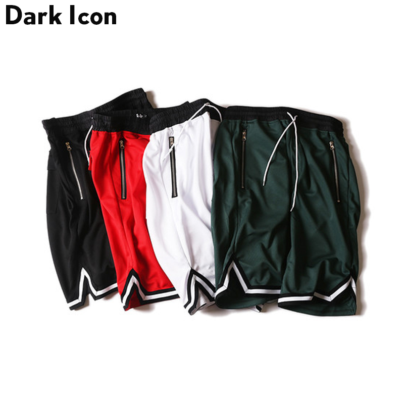 DARK ICON Färg Kontrast Drop Crotch Hip Hop Mens Shorts 2018 Sommar - Herrkläder - Foto 1