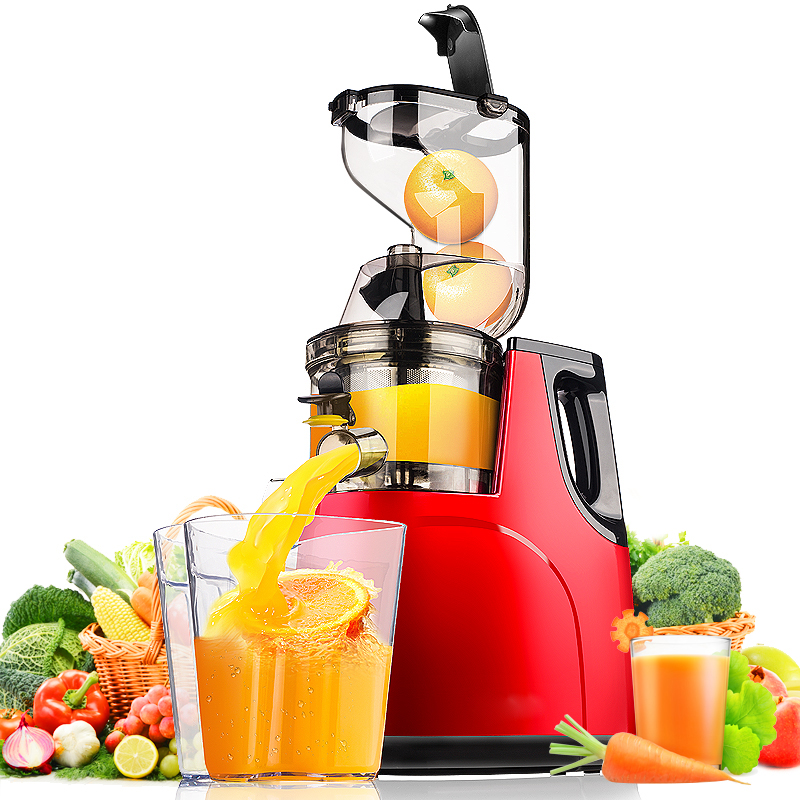 Orange juicer machine à Basse vitesse (55 Rev/Min) vis Extrudeuse Jus De Presse-agrumes Machine À Jus Jus Rendement 95% Plein, Lent Presse-agrumes