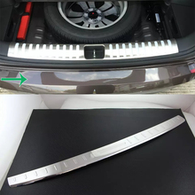 Car Accessories Interior Stainless Rear Outer Bumper Protector Scuff Plate Guard Cover Trim For Hyundai Tucson 2015 Car-styling car styling case for hyundai tucson 2015 2016 stainless steel rear bumper protector sill plate 1pcs car styling accessories