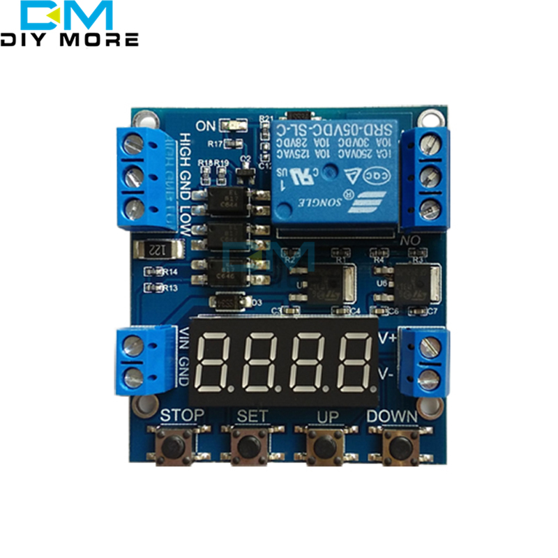 1 Channel 6-30V Trigger Time Delay Relay Module Cycle Timer Relay Module Circuit Switch produino 24v digital mobilize cycle high and low trigger multi function time delay relay module page 7