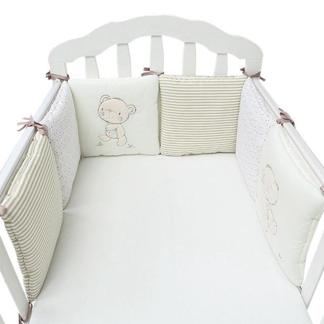 Baby Bed Beschermer.6 Stks Partij Baby Bed Bumper Protector Baby Beddengoed Set