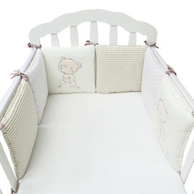 6Pcs / Lot Baby Bed Bumper Bomuld Blend Baby Bedding Sæt til Newborns Toddle Barneseng Protector Cot Bumper Crib Bumpers