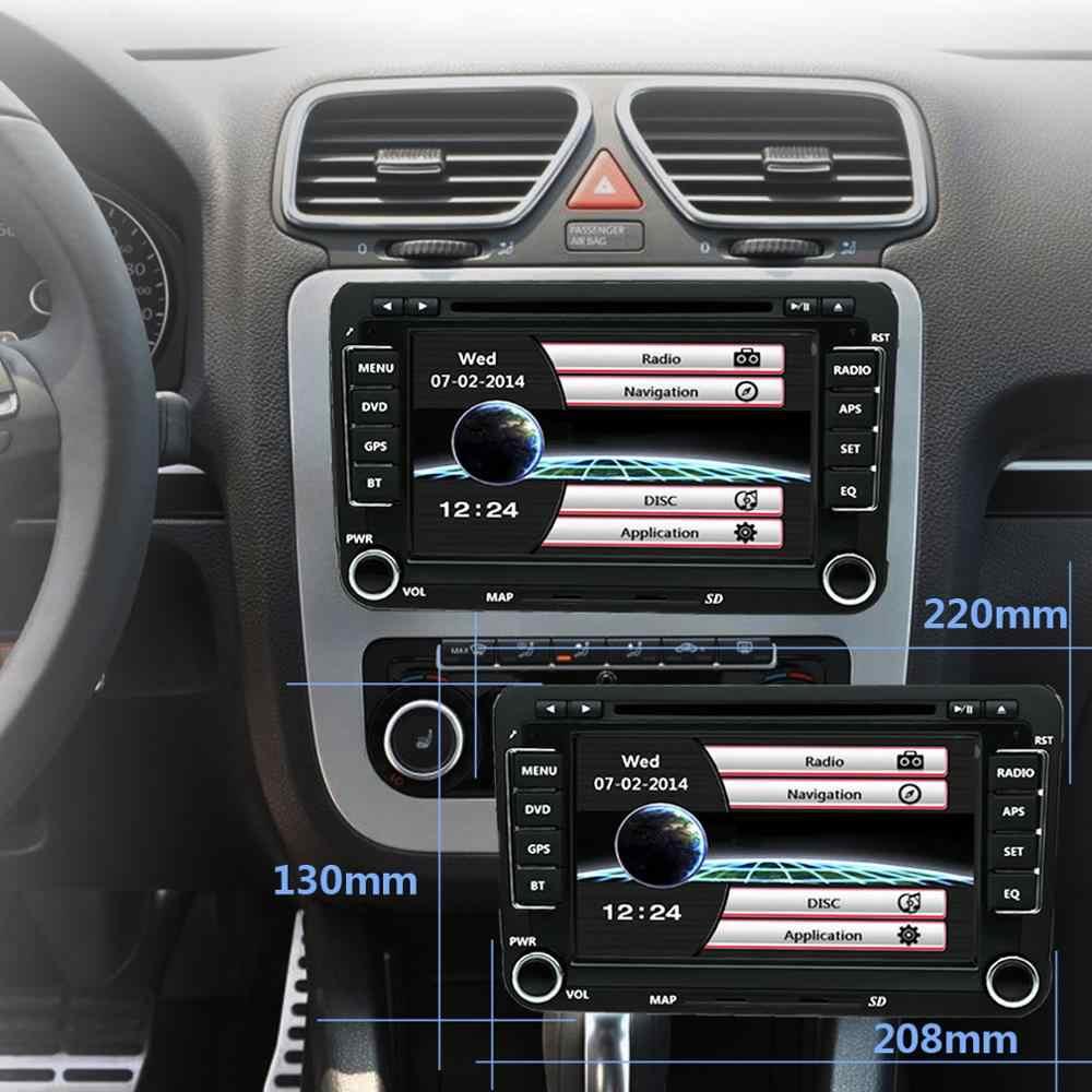 BYNCG Radio 2Din samochodu ODTWARZACZ DVD dla VW Skoda Octavia Superb Volkswagen Passat b6 Seat Leon 2 Polo T5 AmarokGolf 5 6 multimedialnych