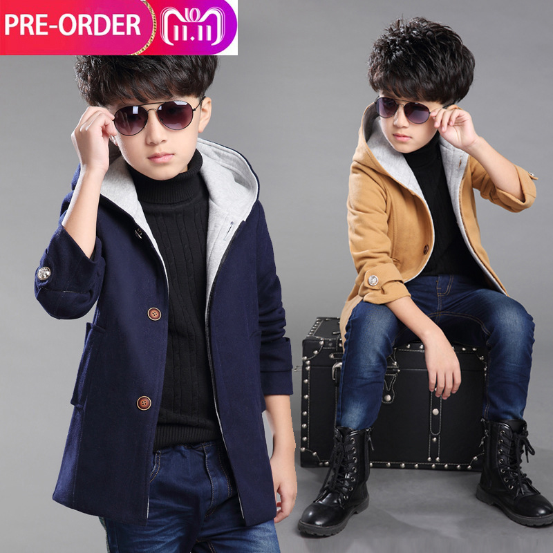 Casual Kids Jackets Winter Boys Coat 2018 New Thickened Hooded Winter Autumn Children Outerwear Boy Jacket Outwear For 6-16 Year цена 2017