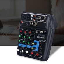 Mini USB Audio Mixer Amplifier Amp Bluetooth Board 48V Phantom Power 4 Channels for DJ Karaoke ED-shipping manufacturer supply ct 60s 6 channels dj music mixer with the amplifier