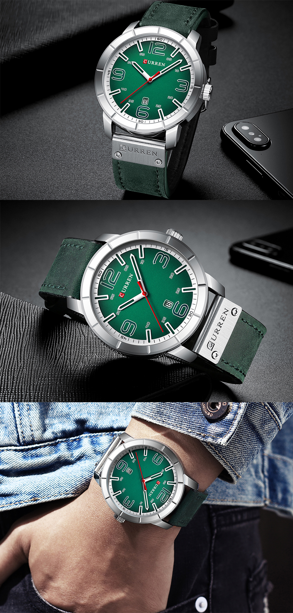 HTB1HFc aPzuK1RjSspeq6ziHVXaO Men Watch 2019 CURREN Men's Quartz Wristwatches Male Clock Top Brand Luxury Reloj Hombres Leather Wrist Watches with Calendar