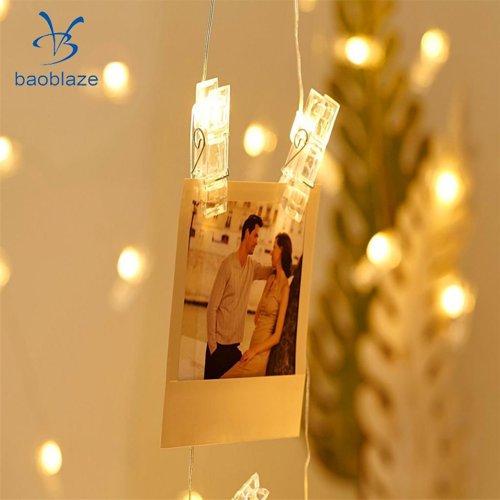 30 LED Warm White Battery Operated String Light Fairy Photo Peg Clip Fairy Hanging Window Decor