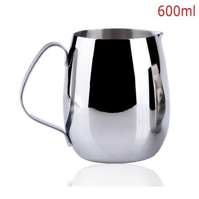300ml 350ml 600ml Stainless Steel Coffee Pitcher Barista Gear 3 Types Choice Kitchen Milk Frothing