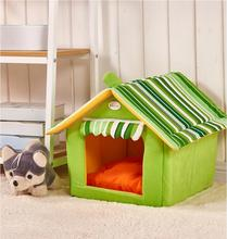 New Autumn Winter Striped Removable Cover Mat Dog House Dog Beds For Small Medium Dogs 3 Color House Pet Beds for Cat S M L XL