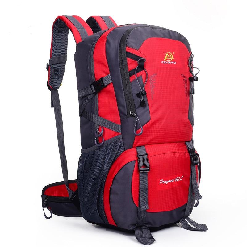 حقيبة الظهر في الهواء الطلق 40L المشي لمسافات طويلة في الهواء الطلق حقيبة سفر 6 ألوان للماء حقيبة الظهر السفر الجبلية ، الرحلات التخييم تسلق حقيبة