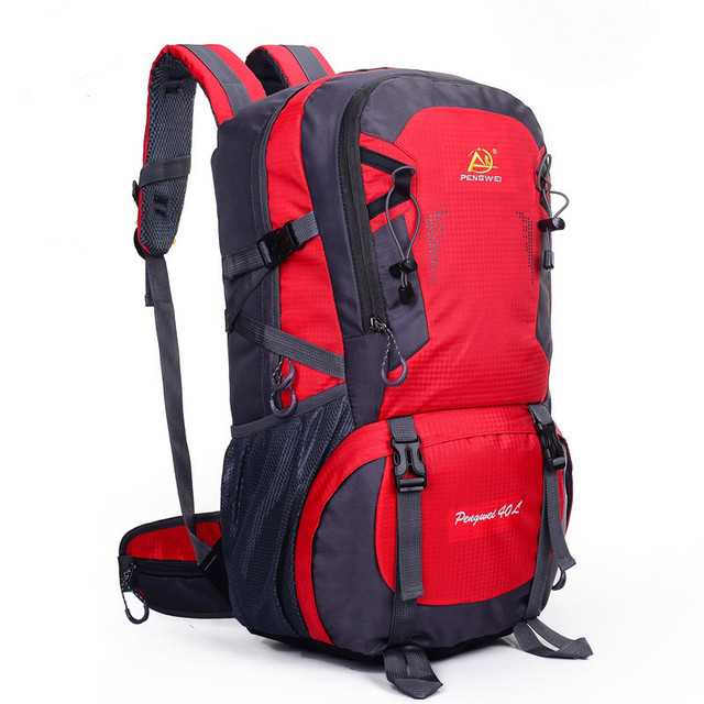 Outdoors backpack 40L Outdoor Hiking Bag 6 Colors Waterproof Tourist Travel  Mountain Backpack c0cd0c9b5db99