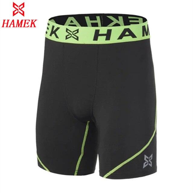 b16a1ec272 Survetement 2017 Quick Dry Ginásio de Esportes Leggings Crossfit Curto dos homens  Futebol Calças de Compressão