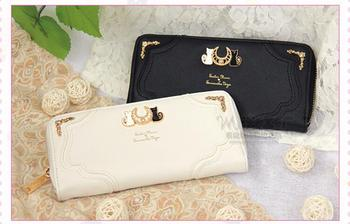 5 pieces Sailor Moon Women Lady long Wallet Purse Female Candy Color Bow Knot PU Leather for Coin Card Clutch Bag