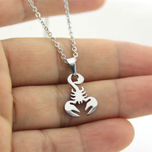 1Pc New Arrival Lovely Stainless Steel Scorpion Necklace for Women Simple Insect Bug Chokers Necklace Butterfly Party Gifts(China)