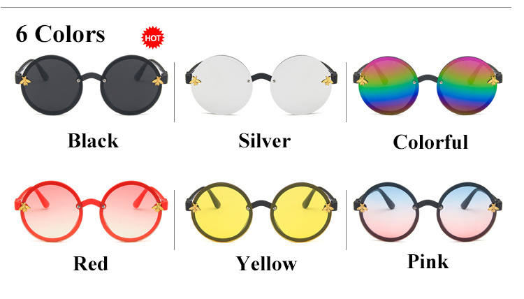 Retro Kids Sunglasses 2019 Girls Round Goggle Candy Color Lens Sun Glasses Round Sunglasses for Boys Girls Child in Sunglasses from Mother Kids