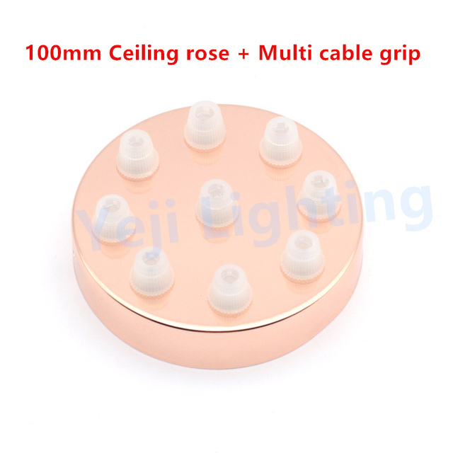 Multi ceiling rose with cable wire grip pendant light ceiling canopy multi ceiling rose with cable wire grip pendant light ceiling canopy vintage ceiling plate base lighting aloadofball Images