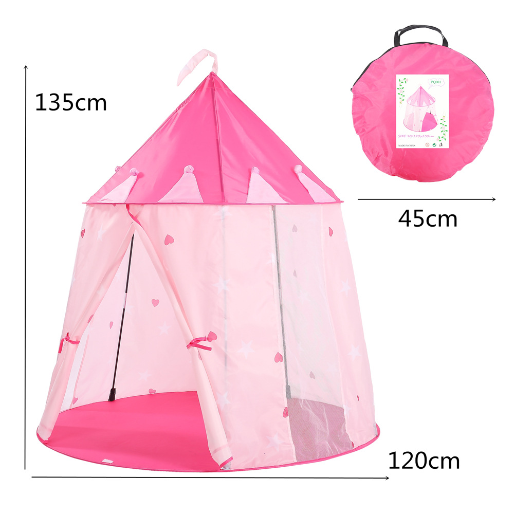 YARD Baby Kids Tent Toys for Children and Mom Enjoy Outdoor Indoor Pink Castle Kids Playhouse Portable Folding Ball Pool Tents