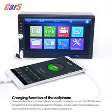 7 Inch 2 DIN Car MP5 MP4 Player TFT Touch Screen Car Radio Player HD Bluetooth Car Stereo Radio FM /MP5 /USB /AUX