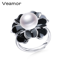 Высокое качество, горячая Распродажа, кольца с цветущим цветком, пресноводный жемчуг, Свадебное обручальное кольцо для женщин, блестящая распродажа, ювелирное изделие, подарок
