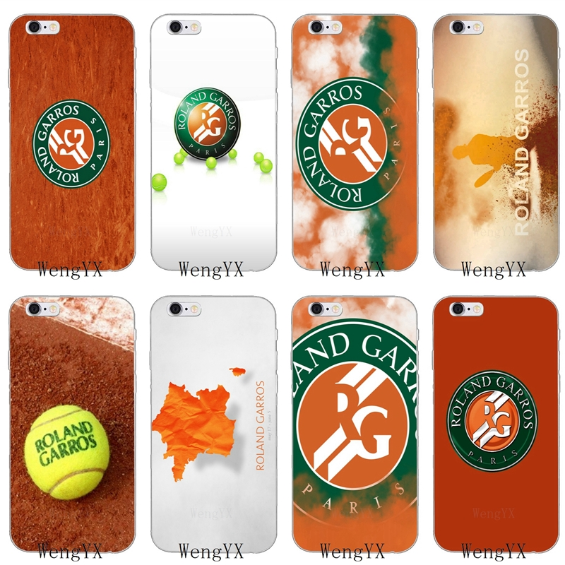 Roland Garros French paris Open Slim silicone Soft phone case For iPhone 4 4s 5 5s 5c SE 6 6s plus 7 7plus 8 8plus X