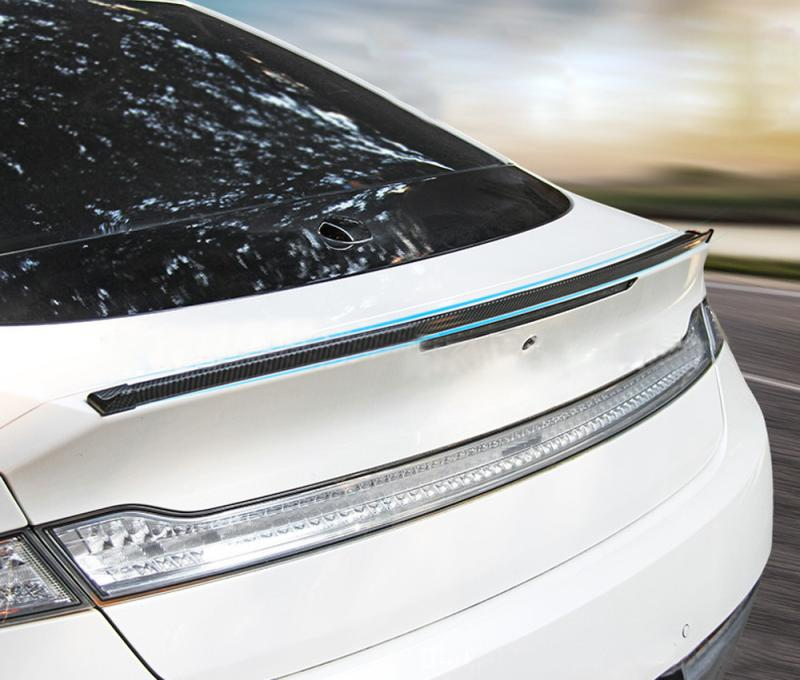 5FT Carbon Fiber Rubber Car Rear Roof Trunk Spoiler Wing Lip Universal Sticker
