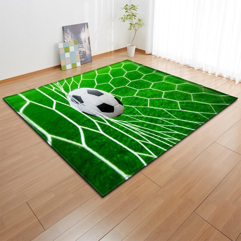Tapis imprimé moderne 3D motif de Football maison petits tapis flanelle doux grand tapis enfants jouer tapis ramper tapis pour tapis de salon