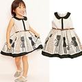 2015 Summer New Stylish Kids Toddler Girls Princess Dress Sleeveless Polka Dots Bowknot Dress Top quality Cute
