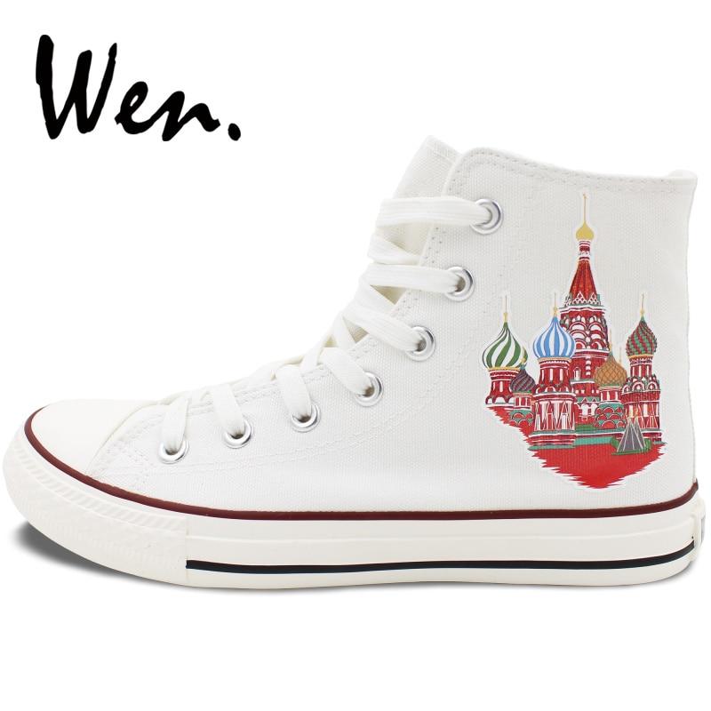Wen Visoka Top Bijela Skateboarding Cipele Dizajn Rusija Katedrala - Tenisice - Foto 3