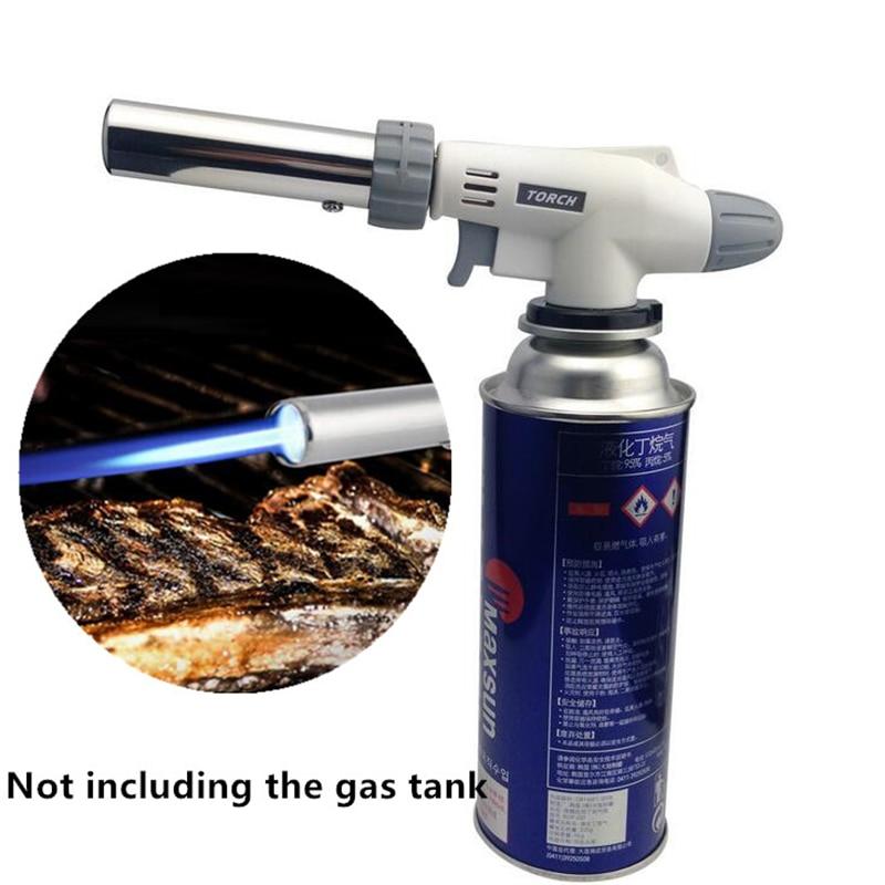Outdoor BBQ Metal Flame Gun Welding Gas Torch Auto Ignition Blow Jet Burner Lighter for Hiking Camping Burner Solder Cook