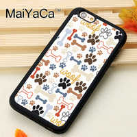 MaiYaCa WOOF PAW BONE Fitted Mobile Phone Case For iPhone 6S 7 8 Plus X XS MAX XR SE Soft Rubber Capa Funda Coque
