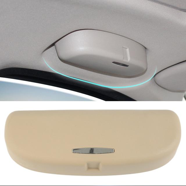 e834b72e5ac 1 pc Beige Color Car Interior Sunglasses Storage Box Eyeglass Case Glasses  Holder Universal Fits For BMW For Honda Cars