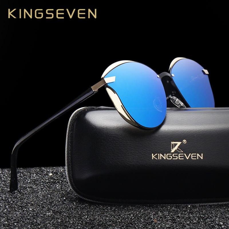 Kingseven moda feminina óculos de sol polarizados óculos de sol feminino óculos de sol óculos de sol das senhoras espelho acessórios originais