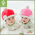 2016 Cute Winter Beanie Hat With Fox Fur Pompom Knitted Hat For Baby Girls Boys Kids Child Soft Warm Double Fur Ball Gorros Caps