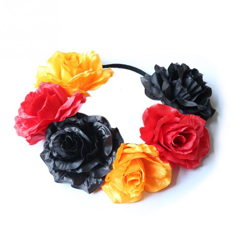 Women Fashion Beautiful Cloth Hairband Printing National Flower Color Hair Accessories