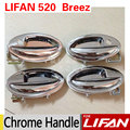 4Pcs/Set Lifan 520 Chrome Exterior Door Handle Covers 520i Breez Accessories Good Quality Metal Stickers Car Styling