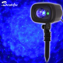 Outdoor Christmas Twinkle Stars Light Projector Motion Clouds LED Red Green Laser Lights Christmas Decorations For Home