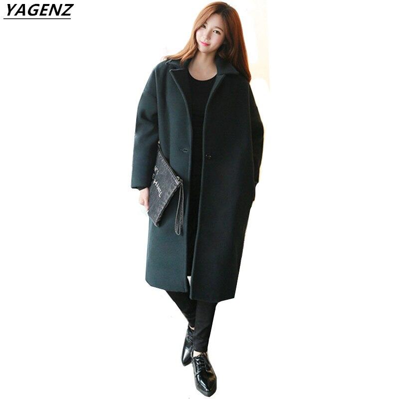 Yagenz Tops Dark A135 Costume Hiver 2017 black Turn Chaud Survêtement Green Manteau Manches Cozy down Casual À Longues Femmes Automne Laine Col qAxqTPH
