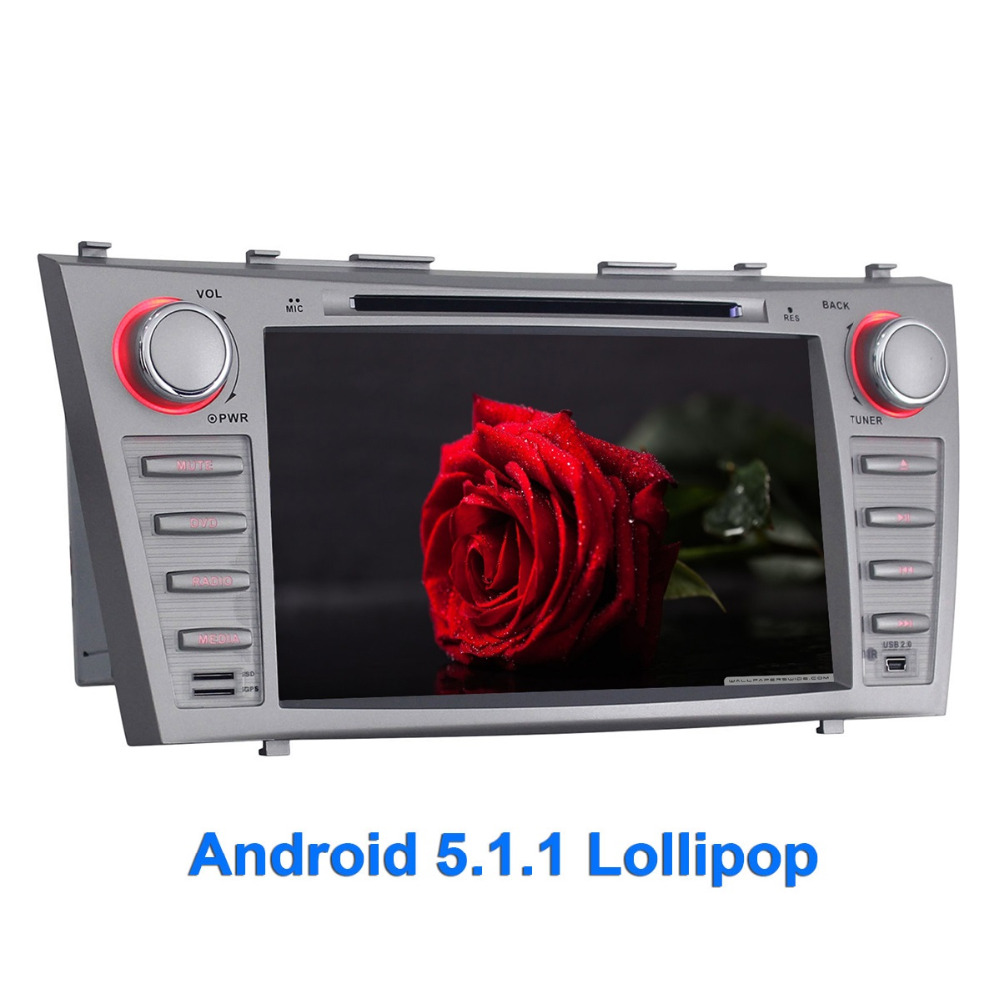Quad Core 2 Din Android 5.1.1 Car DVD Player for Toyota Camry 2007-2011 GPS Navigation Head Unit 8 Inch 1024*600 HD Car Radio
