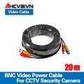 65 футов (20 м) BNC видео Мощность Сиамский кабель для видеонаблюдения CCTV камеры аксессуары DVR комплект