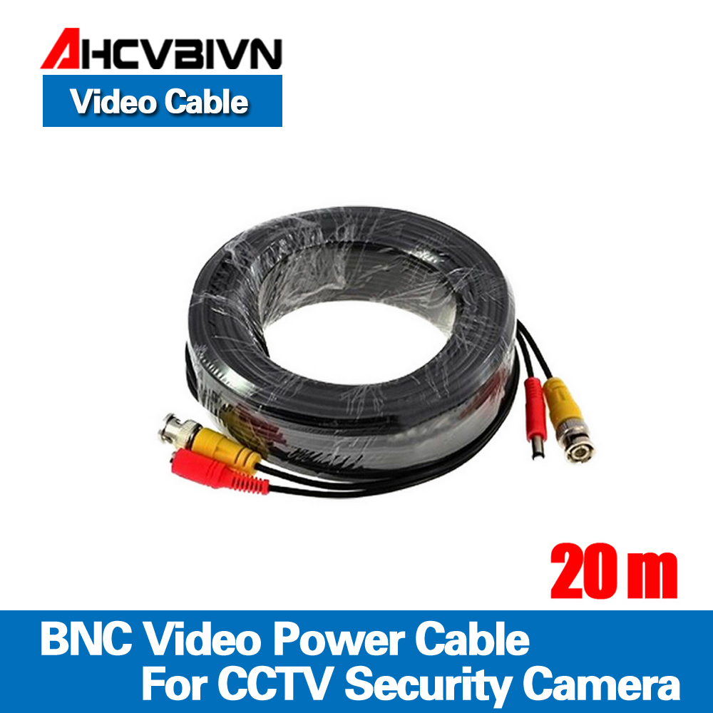 65ft(20m) BNC Video Power Siamese Cable For Surveillance CCTV Camera Accessories DVR Kit