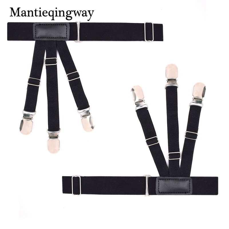 Men's Suspenders Men's Accessories Honest Mantieqingway Sock Suspenders For Men Ajustables Anti-slip Sock Garters Elastic Mens Legs Striped Shirts Suspenders Belts