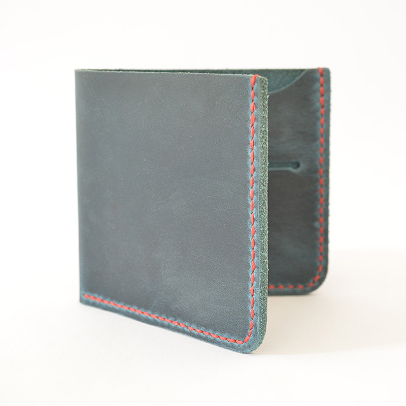 Handmade Genuine Leather Men Wallet Short Designer Vintage Mens Wallet Leather Genuine 2 Card Slots Leather Wallet Men Bifold genuine leather