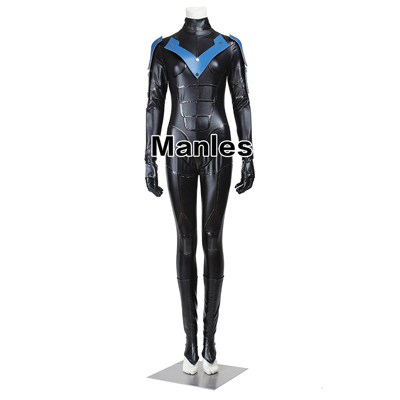 Batman Adult Arkham City Nightwing Cosplay Costume Jumpsuit Women Version Halloween Christmas Costume Female Carnival clothes