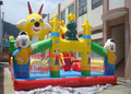 factory customized cartoon outdoor large trampoline /inflatable jumping bouncer castle for kids and adults