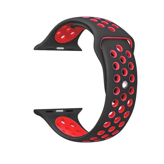 Silicone strap band for Nike apple watch series 4/3/2/1 42mm 38mm rubber wrist bracelet adapter iwatch 40/44mm Apple watch band 3